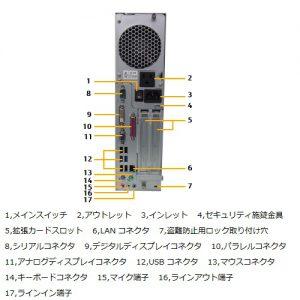 富士通D583XPシリアルパラレル背面図